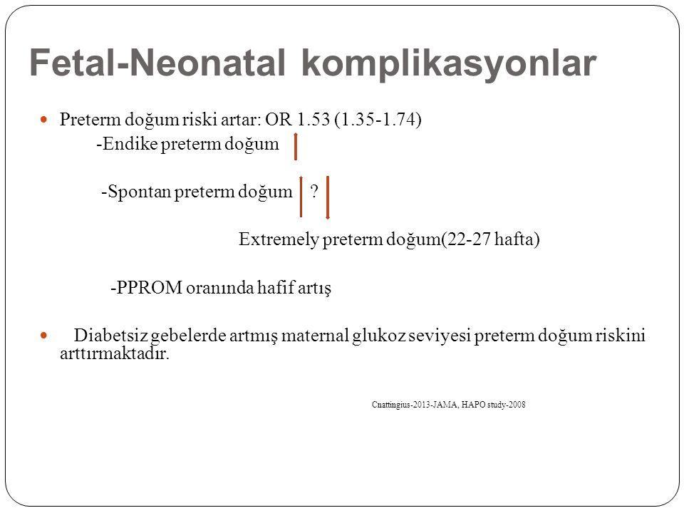 Fetal-Neonatal komplikasyonlar