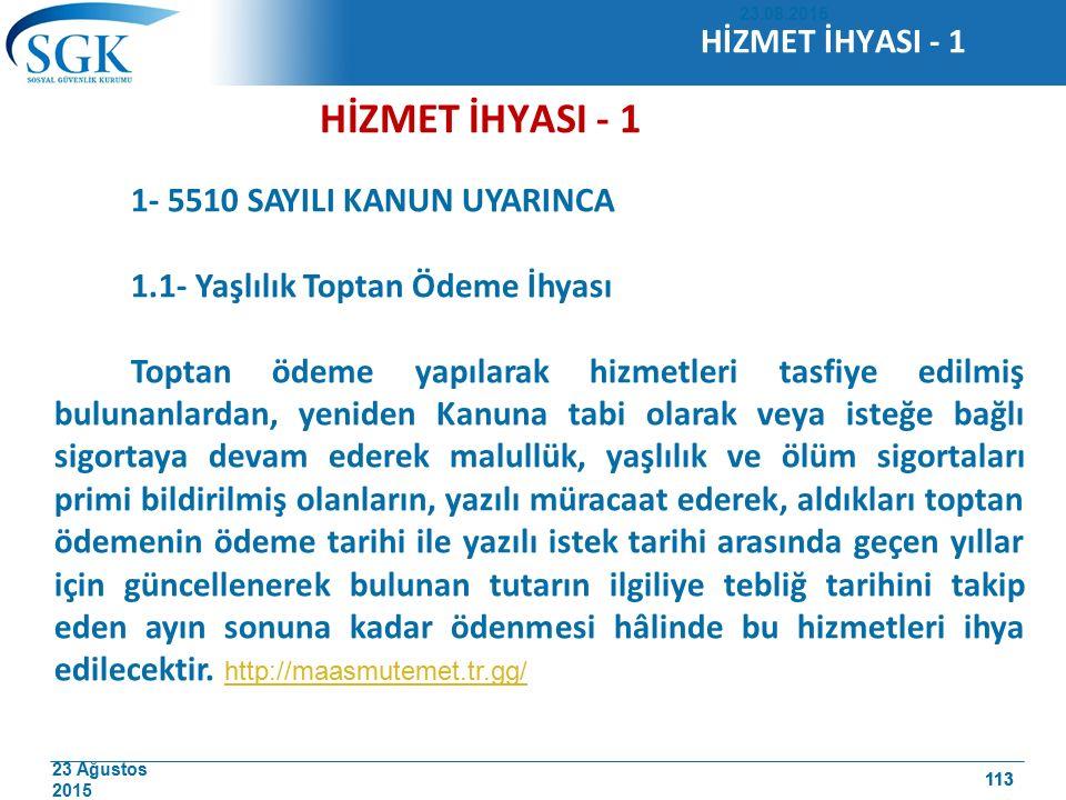 HİZMET İHYASI - 1 HİZMET İHYASI - 1