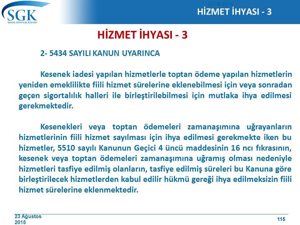 HİZMET İHYASI - 3 HİZMET İHYASI - 3