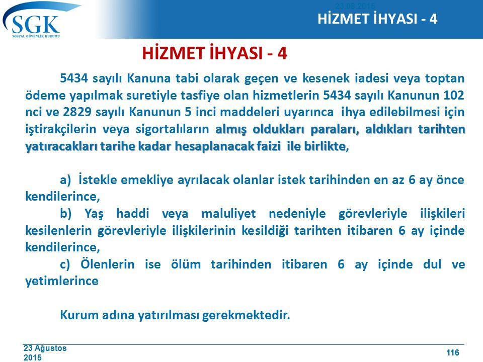 HİZMET İHYASI - 4 HİZMET İHYASI - 4