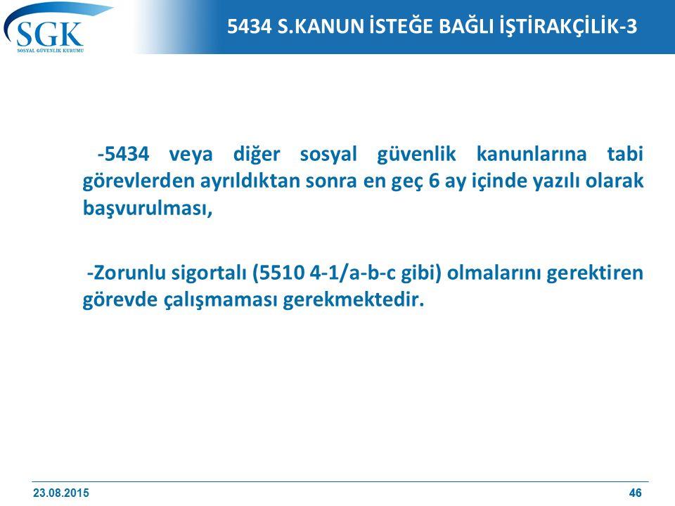 5434 S.KANUN İSTEĞE BAĞLI İŞTİRAKÇİLİK-3