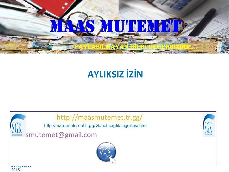 AYLIKSIZ İZİN http://maasmutemet.tr.gg/ maasmutemet@gmail.com