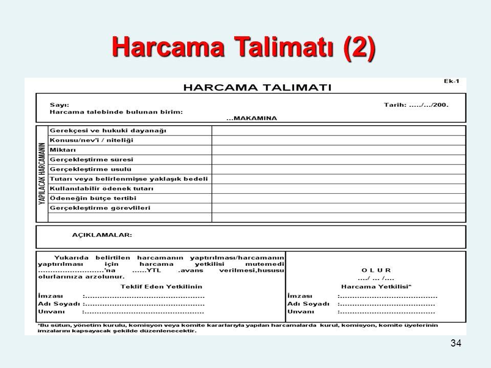 Harcama Talimatı (2)