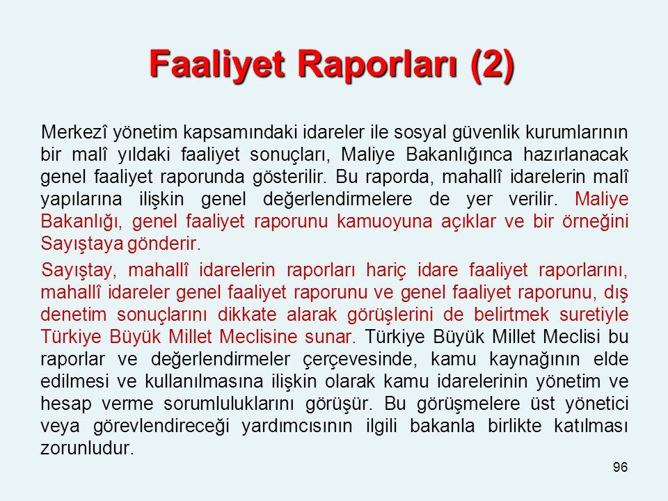 Faaliyet Raporları (2)