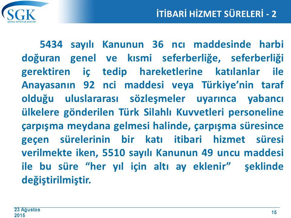 İTİBARİ HİZMET SÜRELERİ - 2