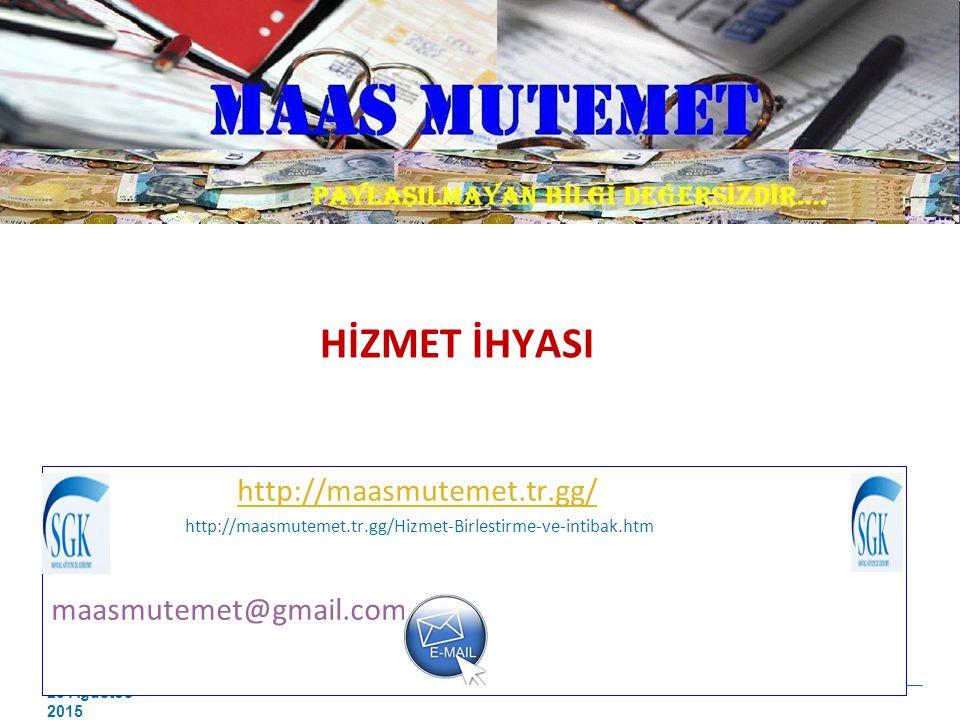 HİZMET İHYASI http://maasmutemet.tr.gg/ maasmutemet@gmail.com
