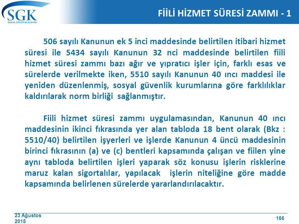 FİİLİ HİZMET SÜRESİ ZAMMI - 1