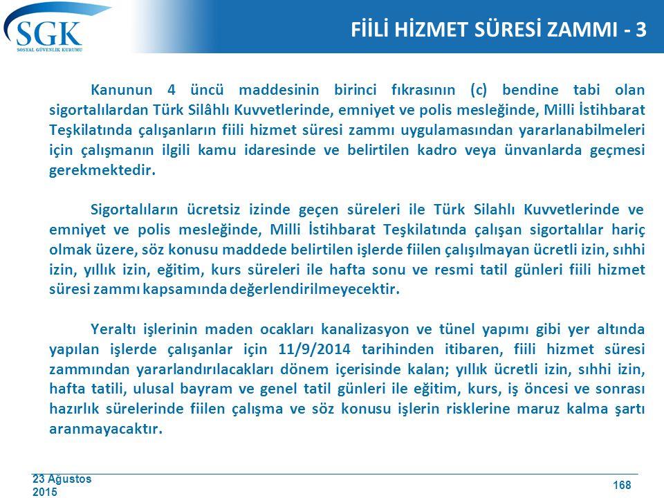 FİİLİ HİZMET SÜRESİ ZAMMI - 3