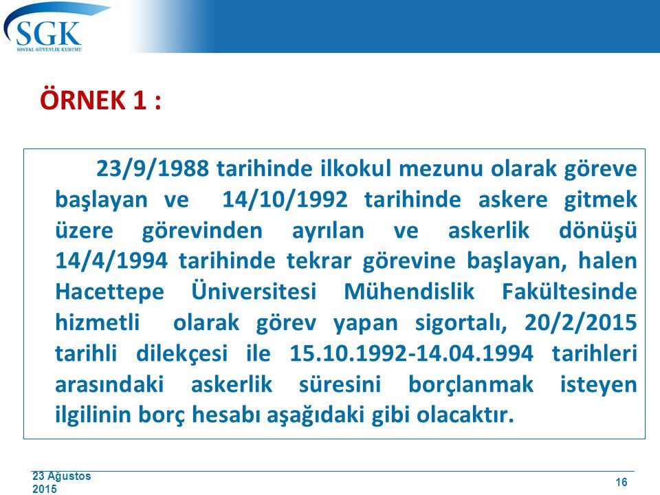 ÖRNEK 1 :