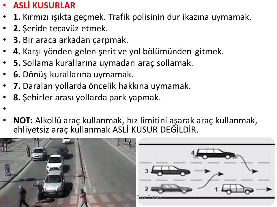 1. Kırmızı ışıkta geçmek. Trafik polisinin dur ikazına uymamak.