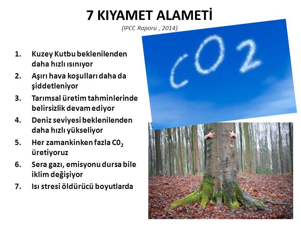 7 KIYAMET ALAMETİ (IPCC Raporu , 2014)