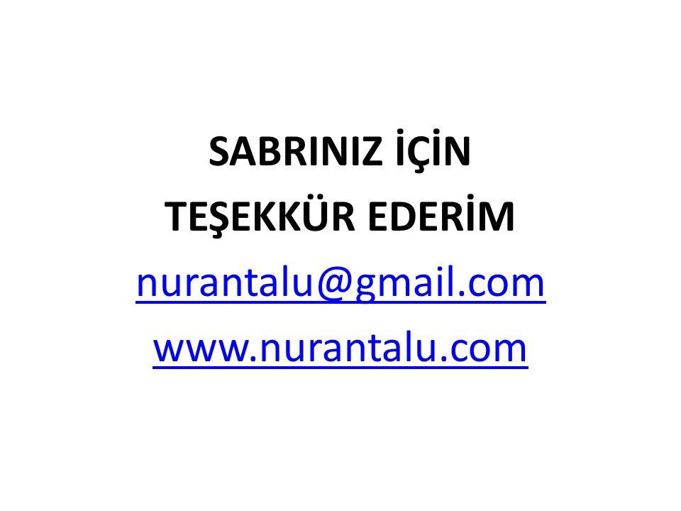 SABRINIZ İÇİN TEŞEKKÜR EDERİM nurantalu@gmail.com www.nurantalu.com