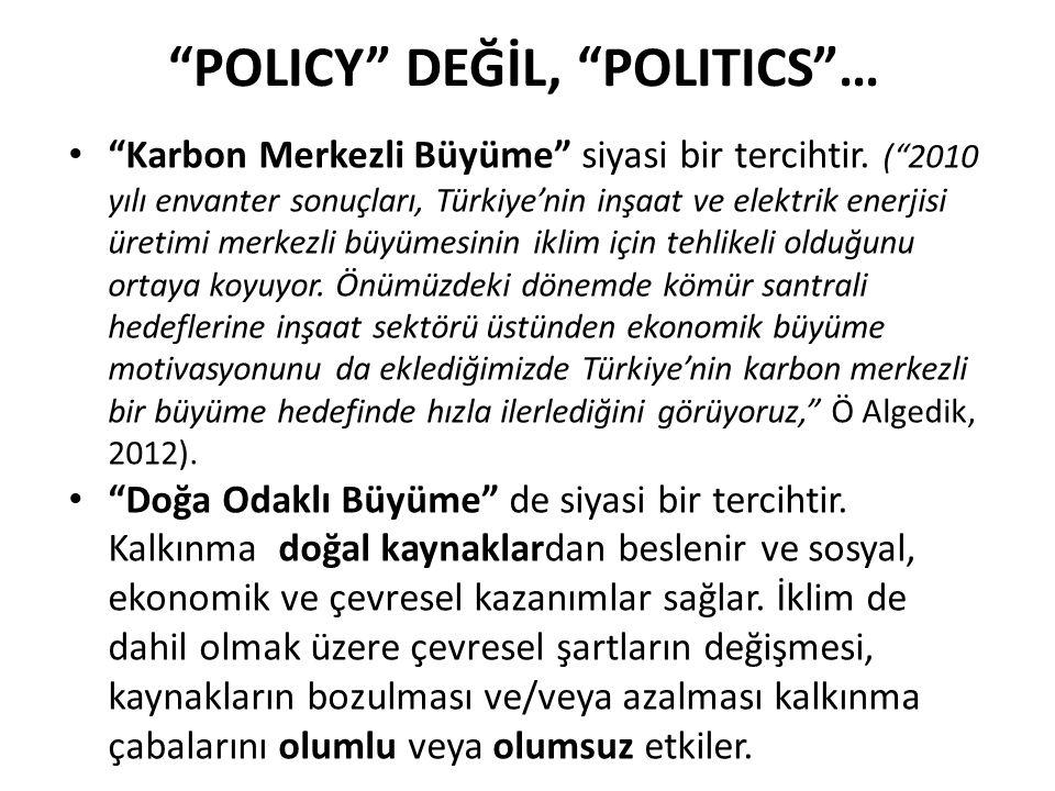 POLICY DEĞİL, POLITICS …
