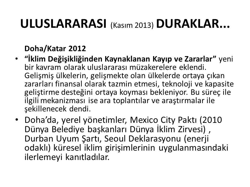 ULUSLARARASI (Kasım 2013) DURAKLAR...