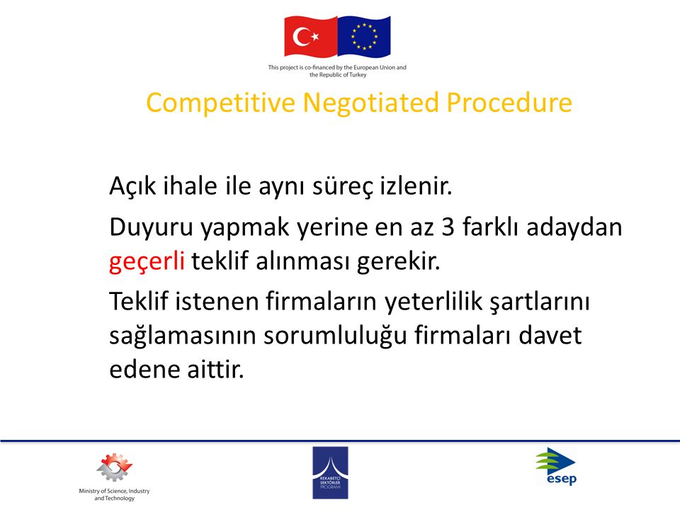 Competitive Negotiated Procedure
