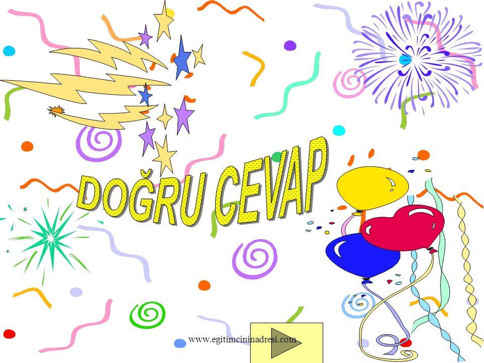 DOĞRU CEVAP www.egitimcininadresi.com