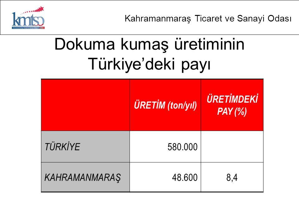 Dokuma kumaş üretiminin Türkiye'deki payı