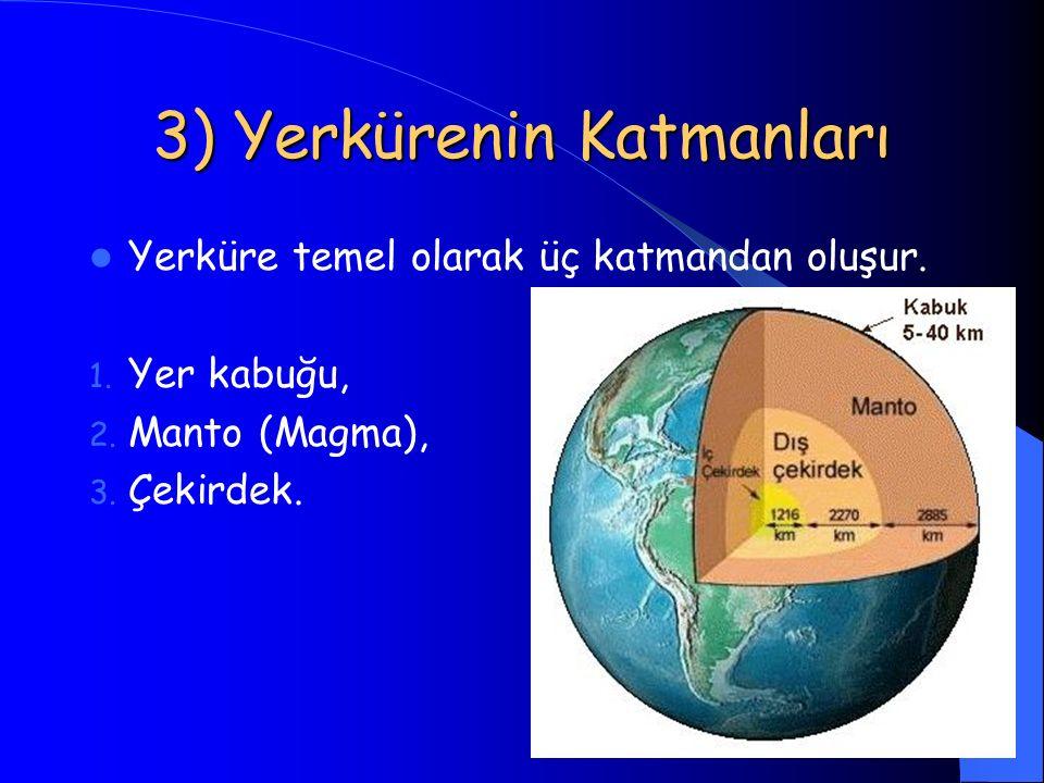 3) Yerkürenin Katmanları