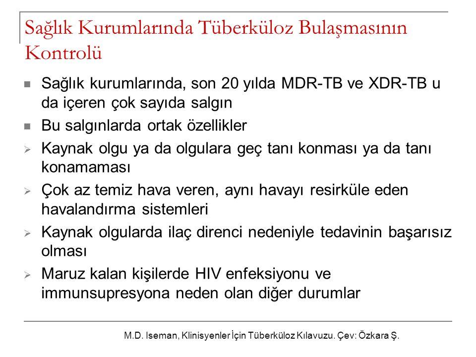 Sağlık Kurumlarında Tüberküloz Bulaşmasının Kontrolü