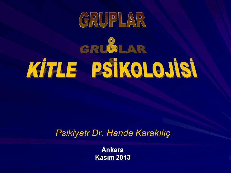 Psikiyatr Dr. Hande Karakılıç Ankara Kasım 2013