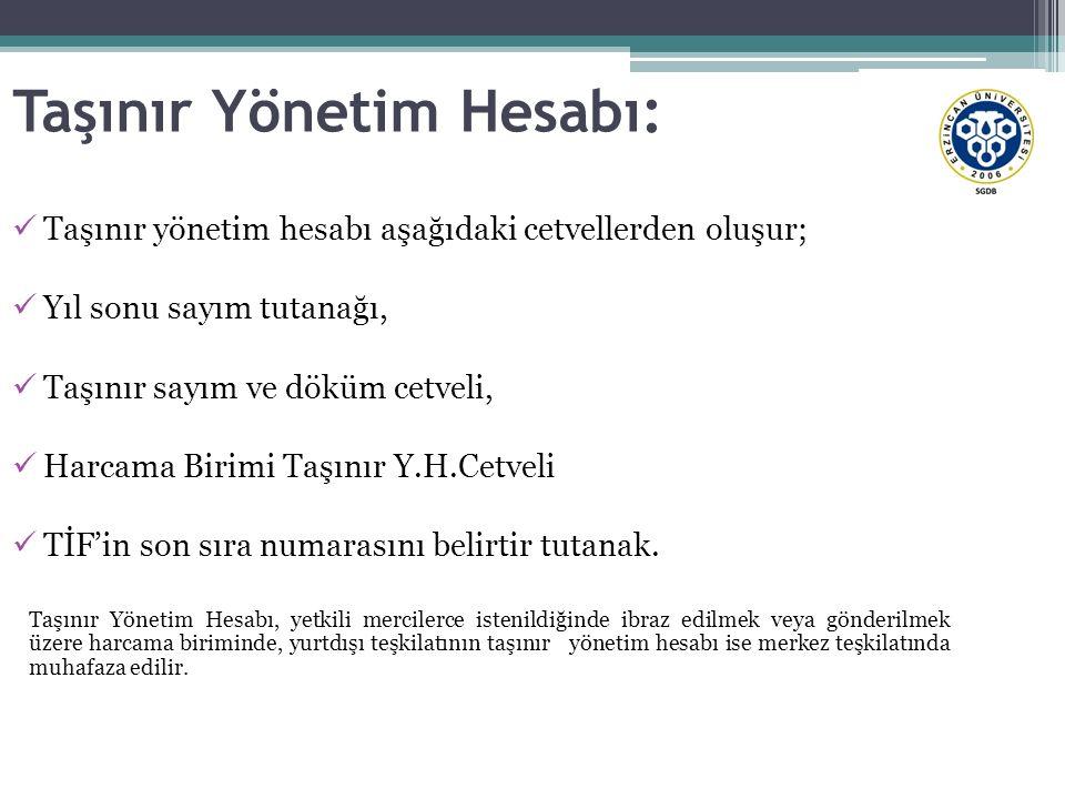 Taşınır Yönetim Hesabı: