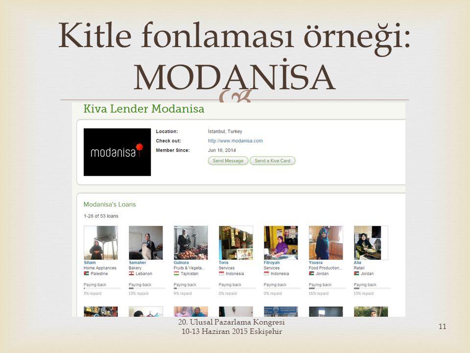 Kitle fonlaması örneği: MODANİSA