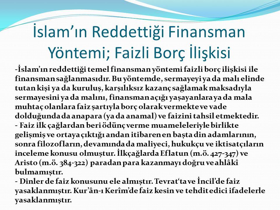 İslam'ın Reddettiği Finansman Yöntemi; Faizli Borç İlişkisi