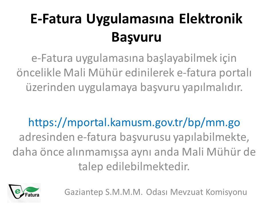 E-Fatura Uygulamasına Elektronik Başvuru