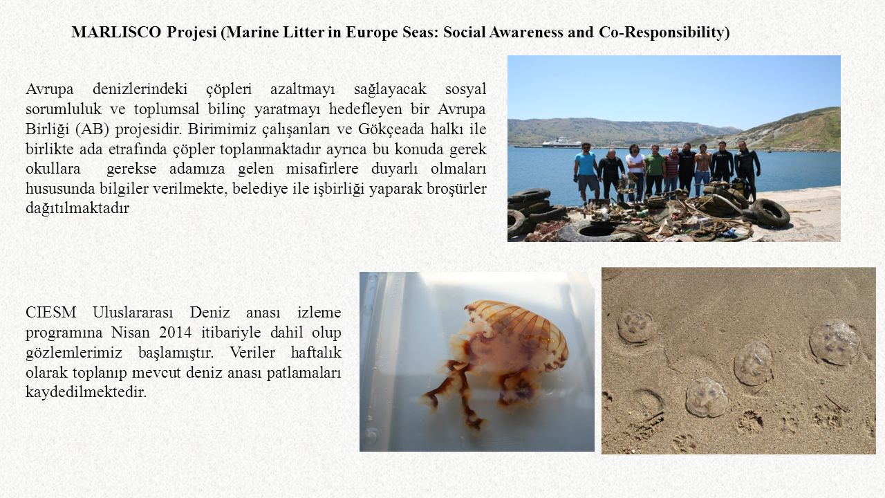 MARLISCO Projesi (Marine Litter in Europe Seas: Social Awareness and Co-Responsibility)