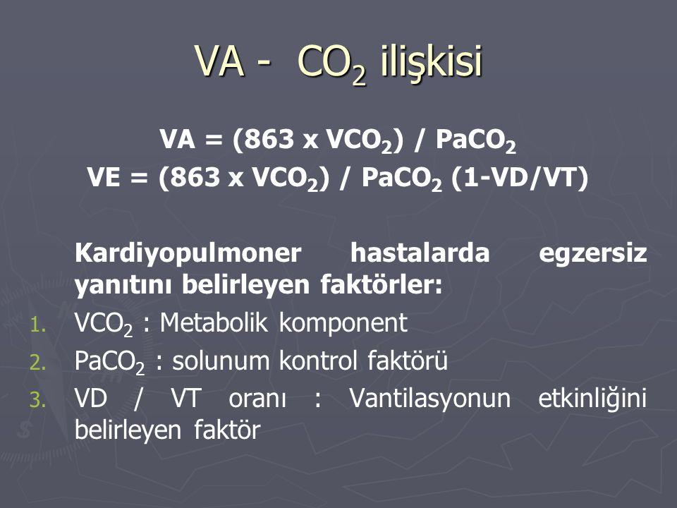 VE = (863 x VCO2) / PaCO2 (1-VD/VT)