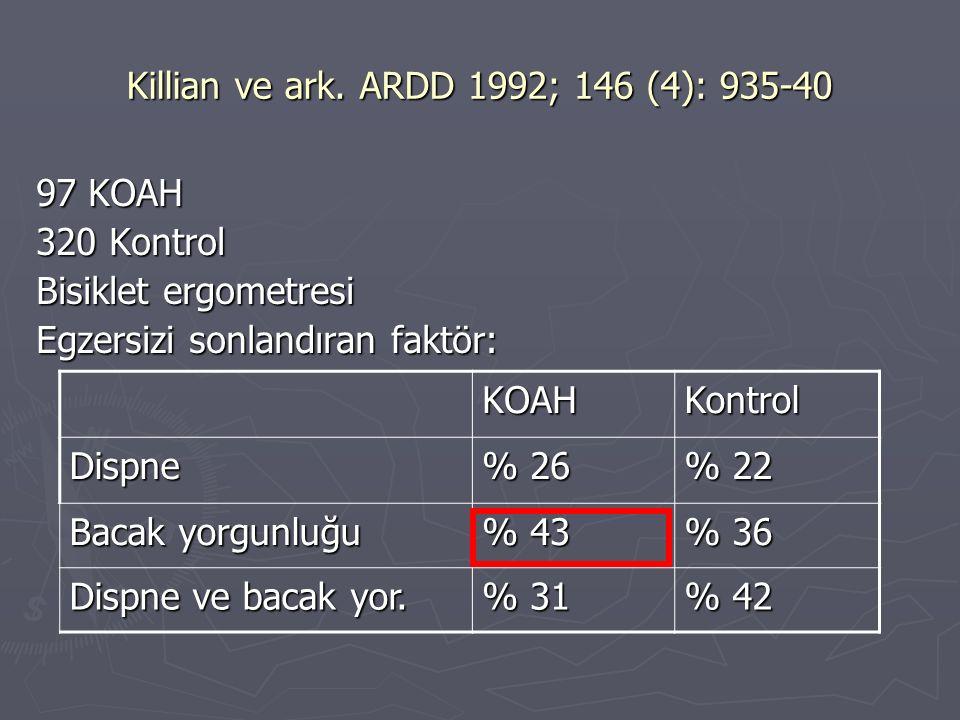 Killian ve ark. ARDD 1992; 146 (4): 935-40