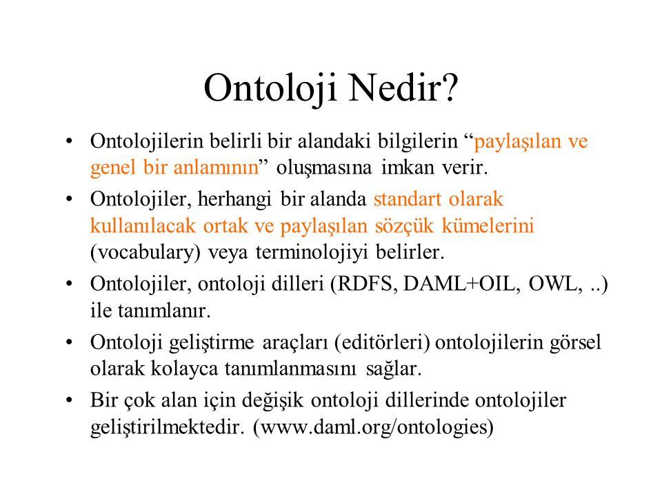 Ontoloji Nedir Ontolojilerin belirli bir alandaki bilgilerin paylaşılan ve genel bir anlamının oluşmasına imkan verir.