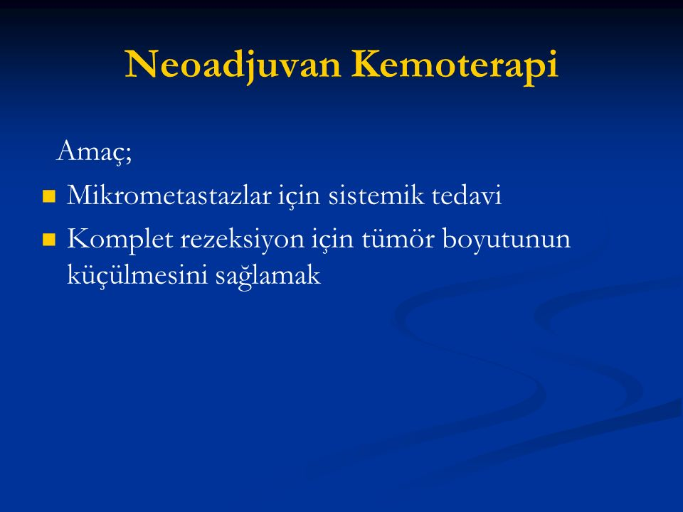 Neoadjuvan Kemoterapi