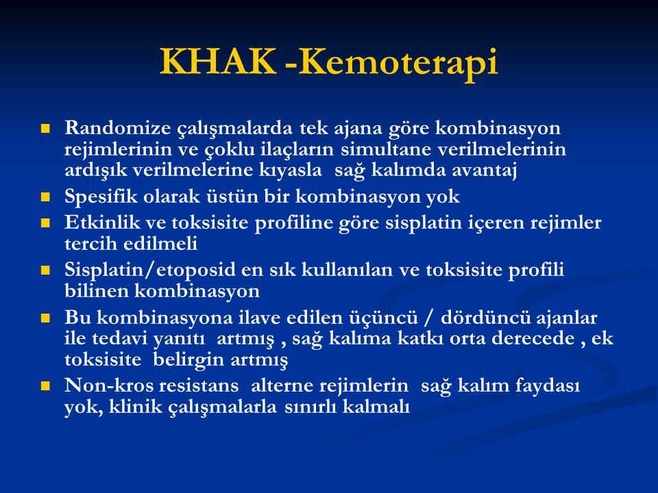 KHAK -Kemoterapi