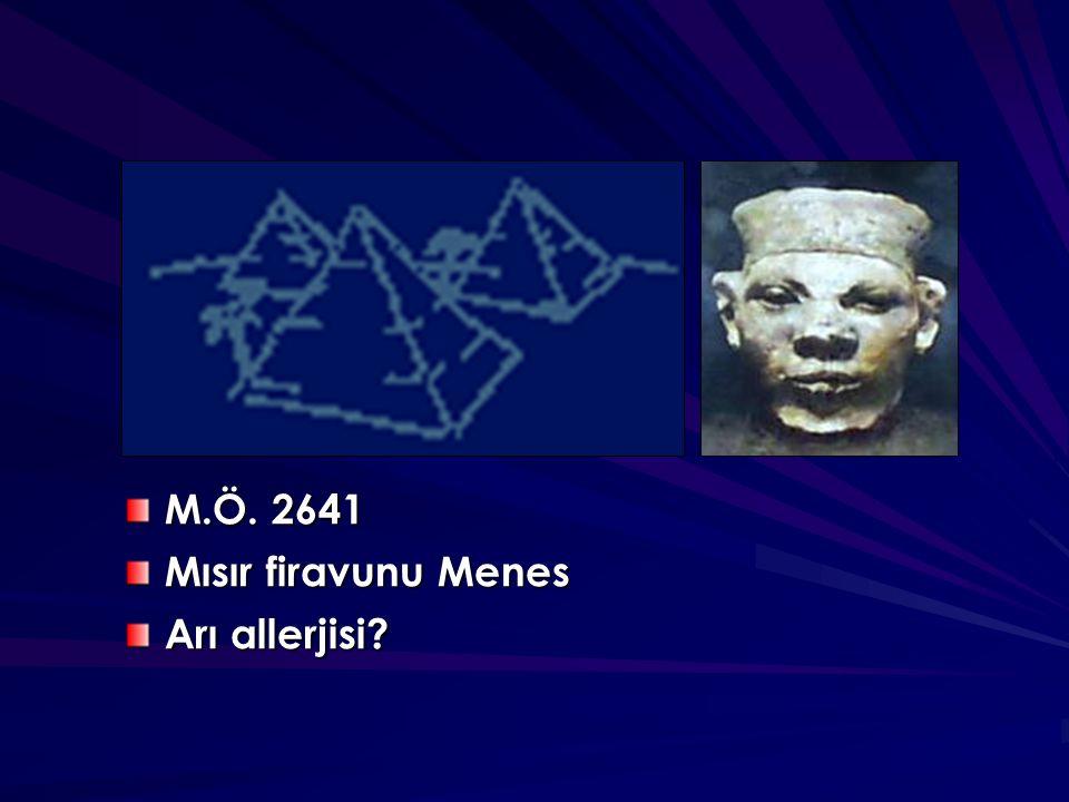 M.Ö. 2641 Mısır firavunu Menes Arı allerjisi