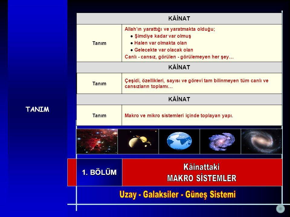 Uzay - Galaksiler - Güneş Sistemi