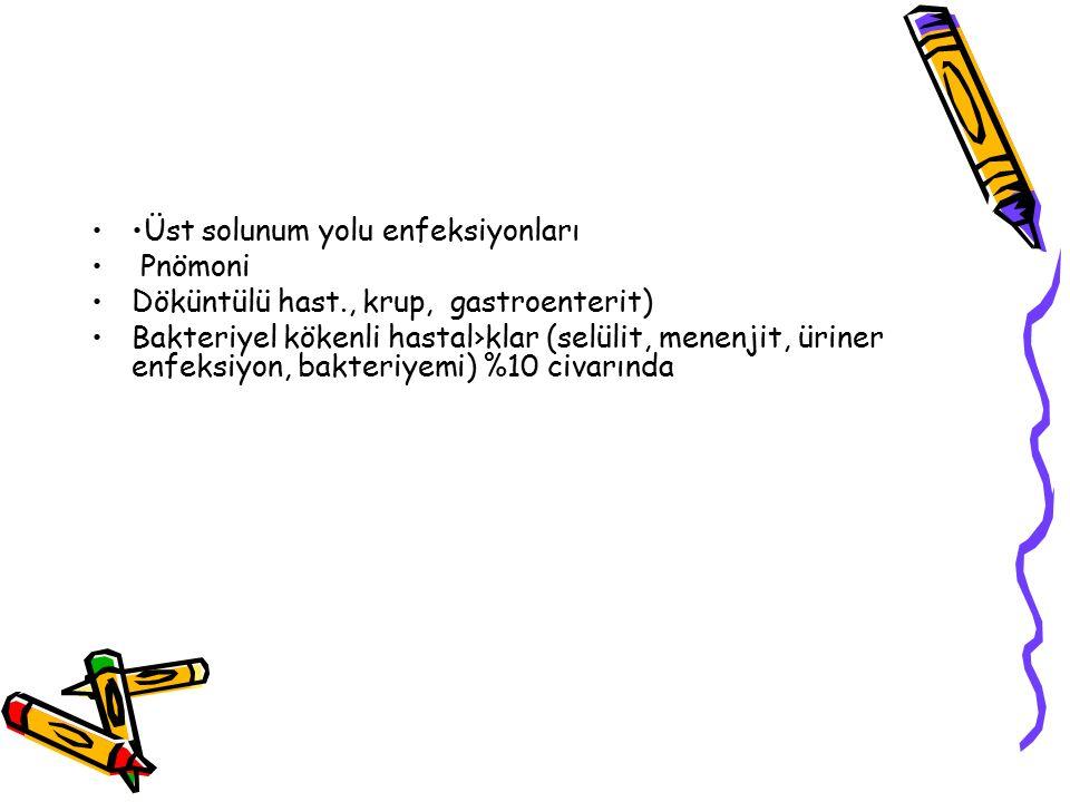 •Üst solunum yolu enfeksiyonları