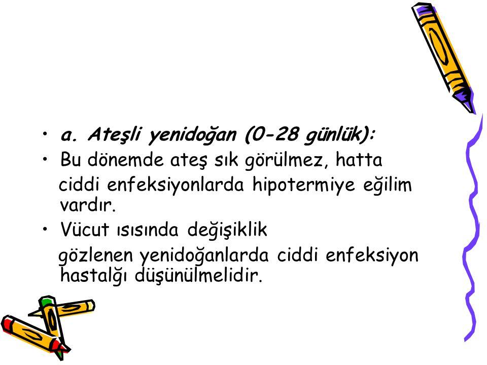 a. Ateşli yenidoğan (0-28 günlük):
