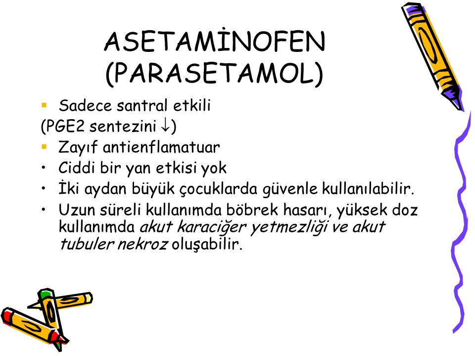 ASETAMİNOFEN (PARASETAMOL)