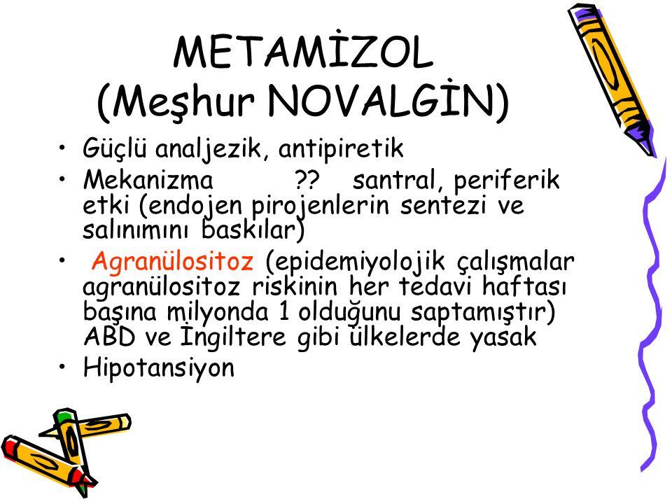METAMİZOL (Meşhur NOVALGİN)