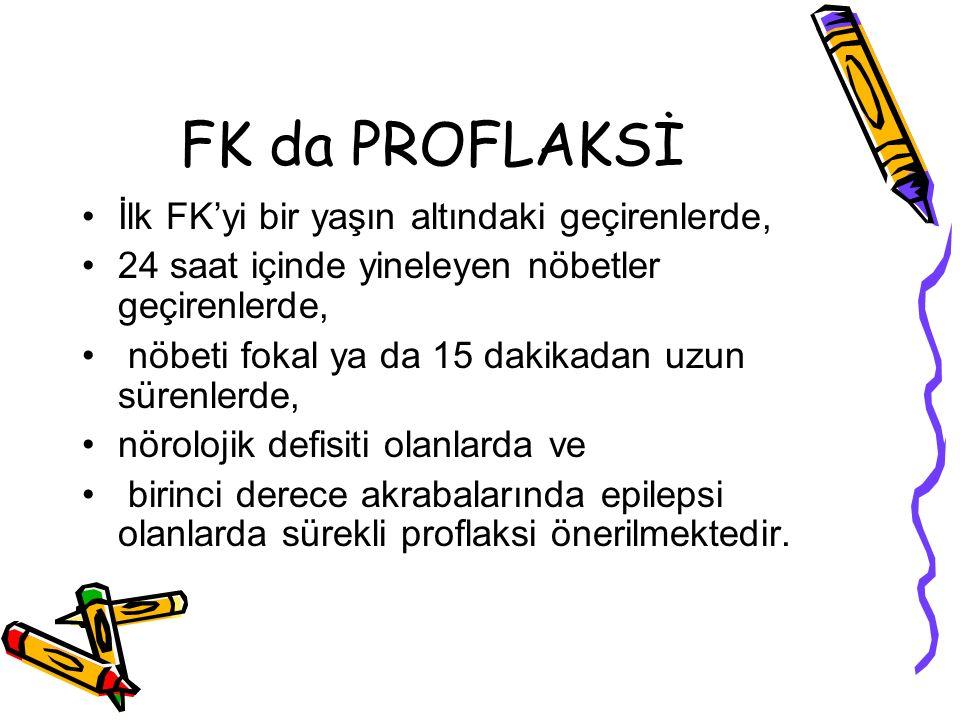 FK da PROFLAKSİ İlk FK'yi bir yaşın altındaki geçirenlerde,