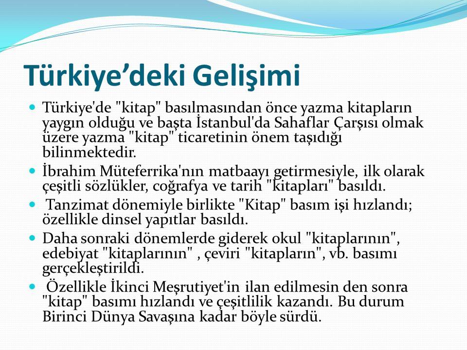 Türkiye'deki Gelişimi