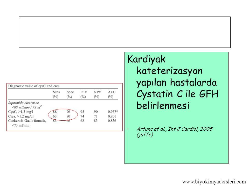Kardiyak kateterizasyon yapılan hastalarda Cystatin C ile GFH belirlenmesi