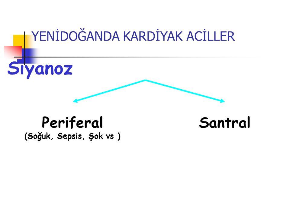 Siyanoz Periferal Santral YENİDOĞANDA KARDİYAK ACİLLER