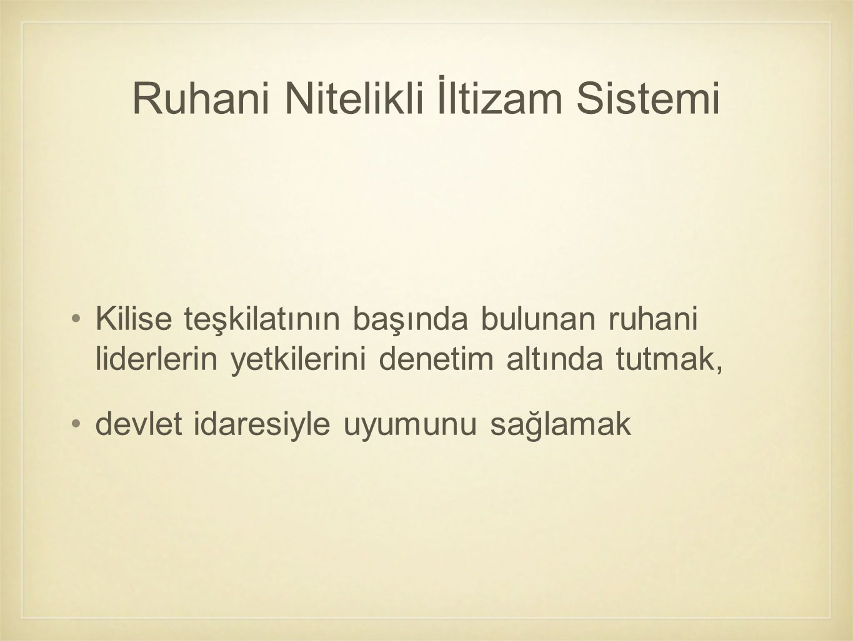 Ruhani Nitelikli İltizam Sistemi
