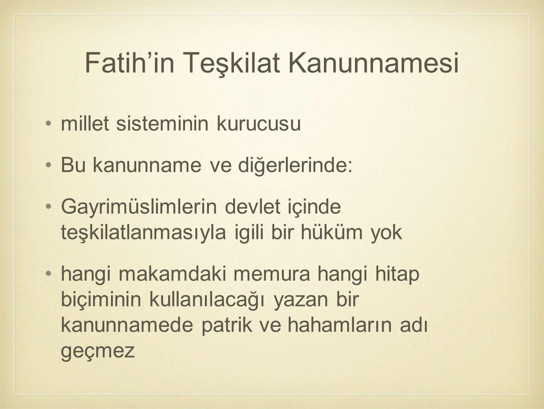 Fatih'in Teşkilat Kanunnamesi
