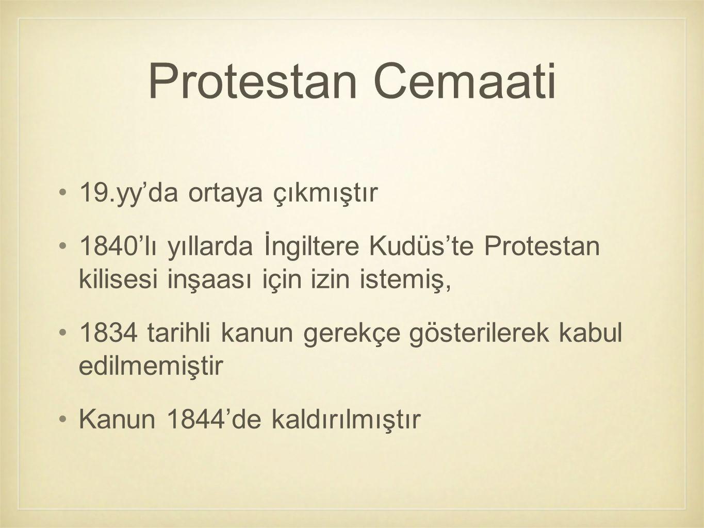 Protestan Cemaati 19.yy'da ortaya çıkmıştır