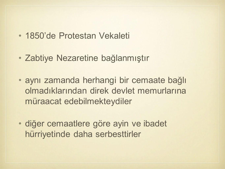 1850'de Protestan Vekaleti