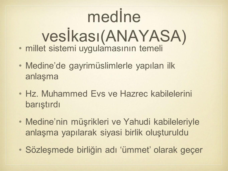 medİne vesİkası(ANAYASA)