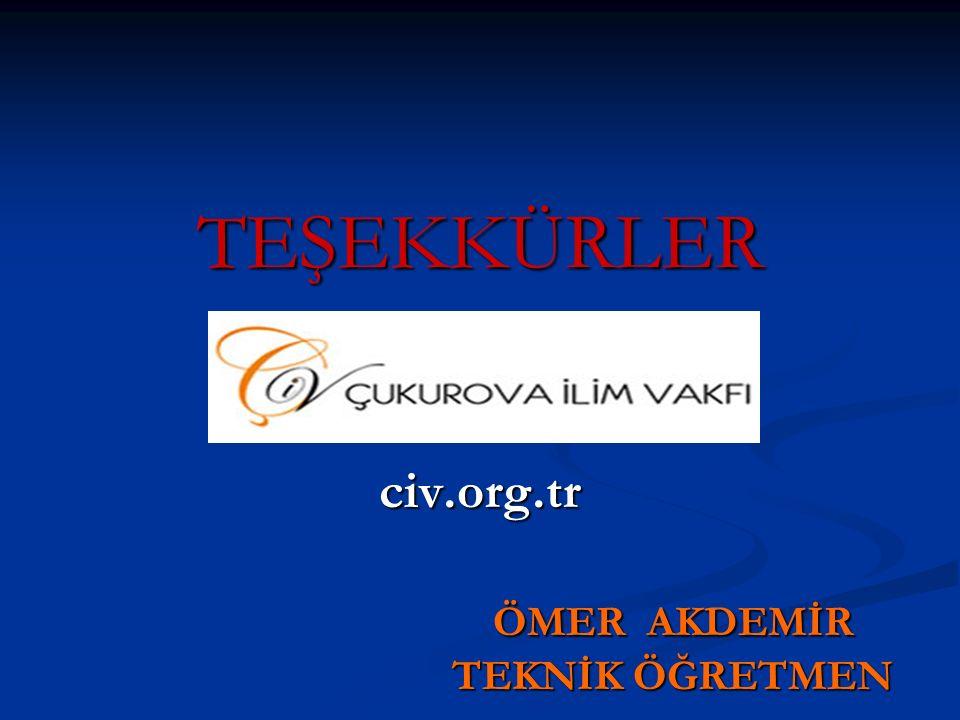 civ.org.tr ÖMER AKDEMİR TEKNİK ÖĞRETMEN